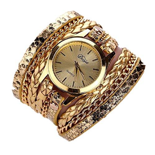 Xmansky Heiß Verkauf Luxus Mode Herz Anhänger Frau Uhren (Gold)