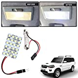 #8: Vheelocityin 24 SMD Dome Light 24 LED Car Roof Light with Spring Adjustable Bracket for Mahindra Scorpio New