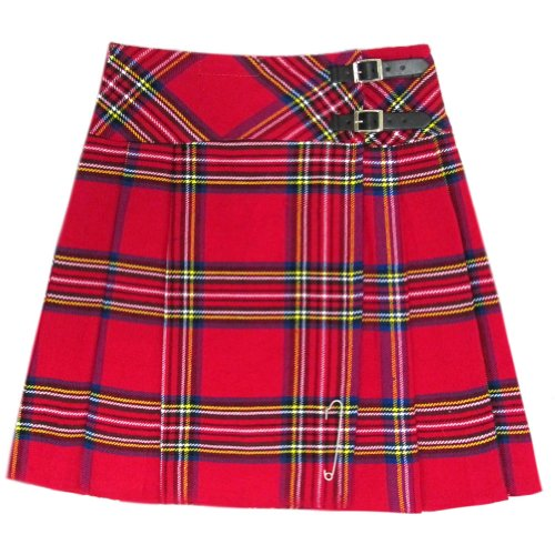 "Tartanista - Kilt/Falda Escocesa hasta la Rodilla Mujer - 50 cm (20"") - Royal Stewart - EU34 UK6"