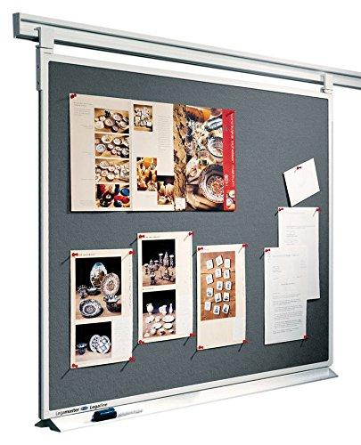 Legamaster 7-641655 Doppelseitiges Pinboard für Legaline Professional beidseitig verwendbar, 150 x 90 cm, grau