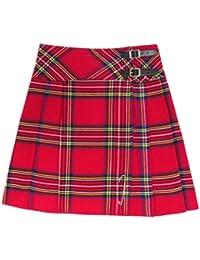 kilt/jupe pour femme - tartan Royal Stewart - 51 cm (longueur)