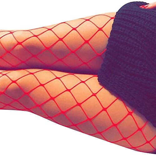 Coolster Sexy Elastische Strumpfwaren Fischnetz Oberschenkel Strümpfe Strumpfhosen Paar mit Hohl Jeans (Kostüm Haus Alice)