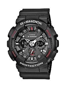 Reloj Casio G-SHOCK - digital de caballero de cuarzo con correa de resina negra (alarma, cronómetro, luz) - sumergible a 200 metros de CASIO