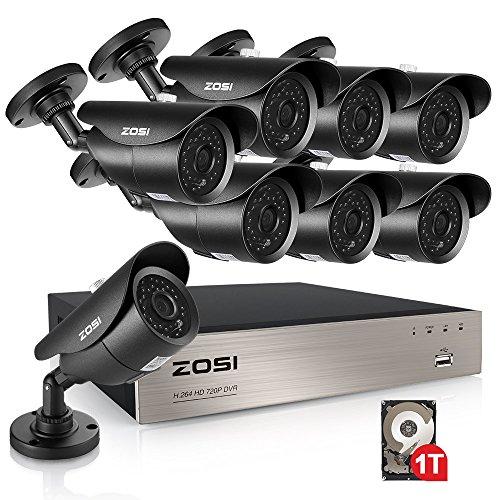 ZOSI Sistema Vigilancia 720P CCTV Kit Cámaras Seguridad