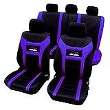 WOLTU AS7259la Housse de siège voiture universelle Auto housse Polyester housses pour siège,siège housse,couvre siège ,Noir Violet