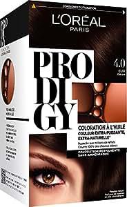 L'Oréal Paris Prodigy Coloration Permanente à l'Huile Sans Ammoniaque 4,0 Châtain