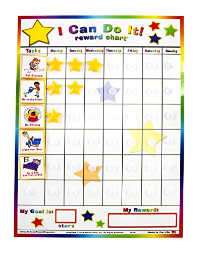 Kenson Kids I Can Do It Reward and Responsibility Chart, 11 X 15.5-Inch by Kenson Kids
