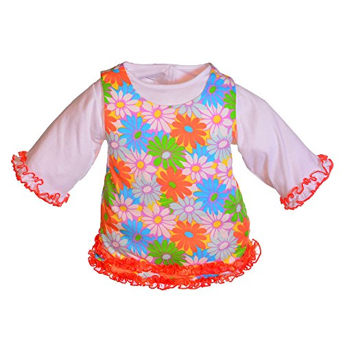 Living Puppets geblümtes Kleid für menschliche Handpuppen 65 cm (Geblümtes Kleidung Kleid Puppe)