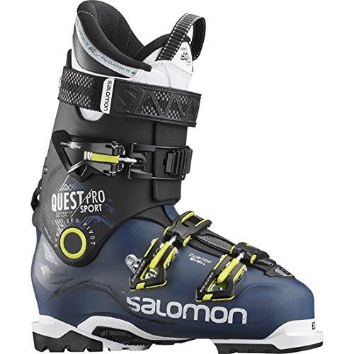 Salomon Homme Bottes de Ski Quest Pro CS 100 Chaussures, Bleu/Noir/Vert, 25.5