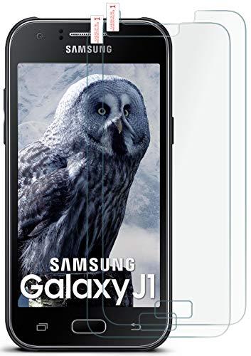 moex 2X 9H Panzerfolie für Samsung Galaxy J1 (2015)   Panzerglas Bildschirm Glasfolie [Tempered Glass] Screen Protector Glas Bildschirmschutz-Folie für Samsung Galaxy J1 2015 Schutzfolie