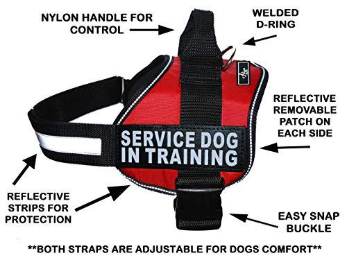 Doggie Stylz Servcie Hund in Training Vest Nylon Hunde Harness. Kauf Kommt mit 2Reflektierenden Service Hund in Klett pathces. Bitte Messen Sie Ihren Hund vor Bestellung, Girth 28-38