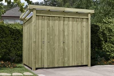 Gerätehaus Holz mit Flachdach Typ-1 Gartenhaus 254 x 206 cm von Gartenpirat® von J. Sedlmayr GmbH bei Du und dein Garten