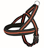 TX-20621 Fusion Norwegian Harness S–M: 30–50 cm/35 mm, black/orange