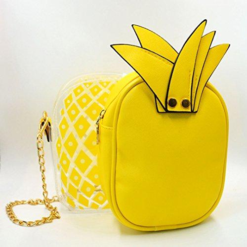 Millya, Borsa a tracolla donna, orange (arancione) - bb-01183-03C yellow