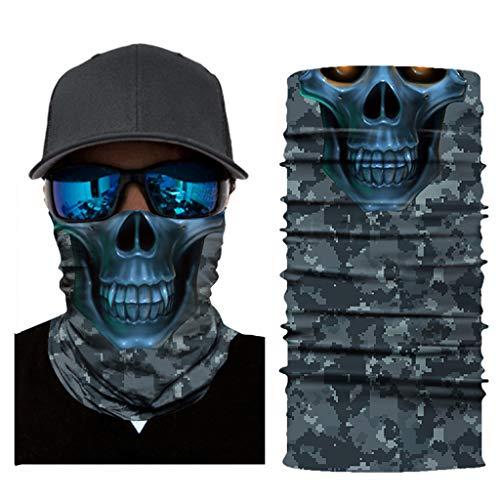 Kostüm Horror Verschiedene - JSxhisxnuid, Bedrucktes Multifunktionstuch mit ausgefallenem Design - Hochwertige - Schutztuch - Halstuch, Face Shield, Gesichtsmaske - Verschiedene Muster (A)