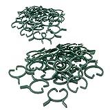 KINGLAKE 100pz clip per piante da giardino clip di fissaggio vite clip per piante Staminali sostegno