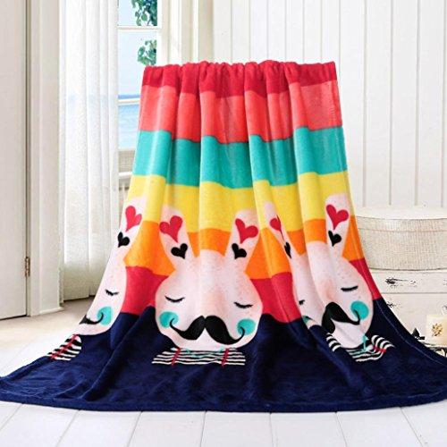 Wanshop® Super Soft Warm Solid Warm Micro Plush Fleece Blanket Throw Rug Sofa Bedding Microfiber Solid Kids Blanket Bedding Quilt Play Blanket (70*100cm, D)
