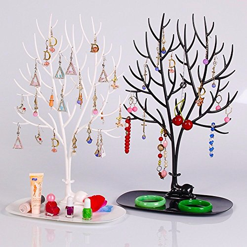 ShopAIS Big : Tray Bracelet Storage Tree Shelf Necklace Earring Deer Jewelry...