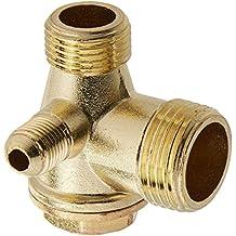 Sourcingmap - Tono de cobre de 3 vías accesorios compresor de aire de la válvula de