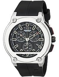 Timex - T5K354SU - Ironman - Quartz Analogique - Chronographe - Bracelet en Résine Noire