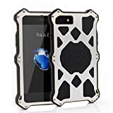 iphone 7 case,Feitenn Armor Tank Aluminum Metal Bumper Soft Rubber Military Heavy Duty