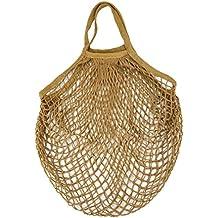 Gaddrt - borsa in rete in cotone biologico per lo shopping. Riutilizzabile, ecologica C