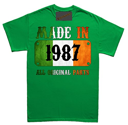 Renowned Made in Ireland in 1987 all original parts Vintage Flag Unisex - Kinder T Shirt Grün