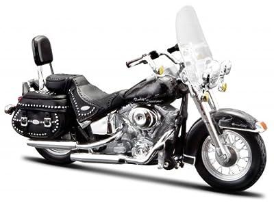 Harley Davidson, 2002 FLSTC Heritage Softail Classic(32), Maisto Motorrad 1:18 von Maisto