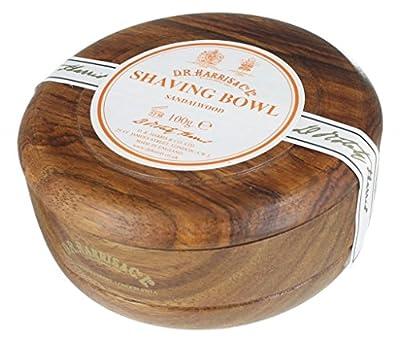 D.R.Harris & Co Sandalwood Mahogany Effect Shaving Bowl & Shaving Soap by D.R.Harris & Co