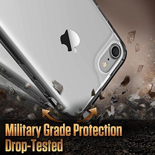 iPhone 7 Hülle (4,7 Zoll), ESR® Hybrid Hülle, Weiche TPU Rahmen mit Hart PC Zurück iPhone 7 Bumper Case Schutzhülle für iPhone 7 (Schwarz) Klar