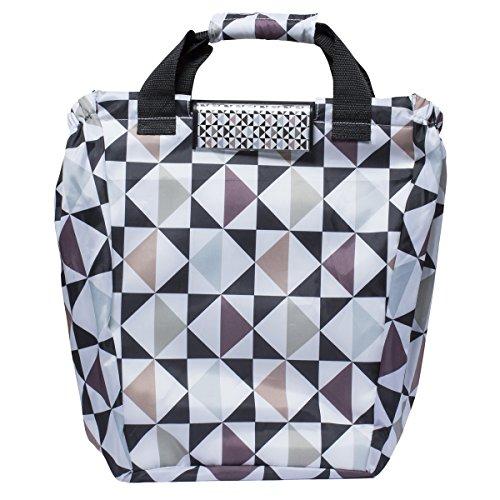 Zapato XXL Einkaufswagentasche mit Klick System und großer Kühltasche Einkaufstasche Shopper Shopping Bag Faltbar Grafik Design Bunt