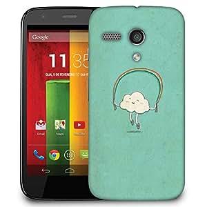 Snoogg Cartoon Cloud Case Cover For Motorola G / Moto G