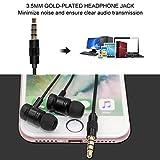 Écouteurs Intra-auriculaires avec Basses Puissantes, NickSea Anti-bruit Écouteurs avec Haute Fidélité équilibré, Filaire Stéréo avec Microphone Intégré Compatible avec PC, MP3, iPhone, Xiaomi Huawei et Les Autres Smartphone
