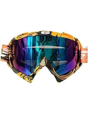 Gafas Gafas Gafas Motocicleta Motocross Esquí Riding Ciclismo Deportes De Carreras Snow Protector Lente Transparente...