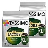 Tassimo Jacobs Krönung XL, Rainforest Alliance Certified, Pack of 2, 2 x 16 T-Discs