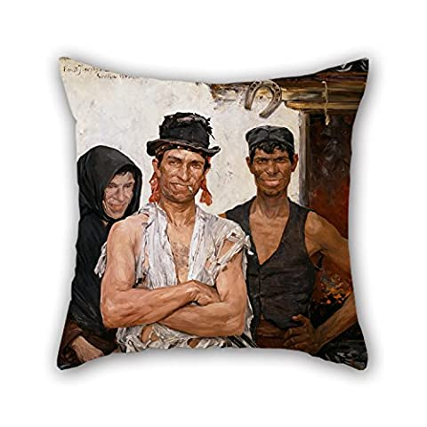 Artistdecor Valentine Day Pillowcase 20 X 20 Inches / 50 By 50 Cm(twice Sides) Nice Choice For Dance Room Boy Friend Club Bedding Wedding Bf Oil Painting Ernst Josephson - Spanish Blacksmiths