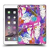Head Case Designs Offizielle Ninola Bespritzte Farbe Pink Wasserfarben Soft Gel Hülle für iPad Air 2 (2014)