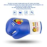 K-Boxer Boxing Gloves Kids, Junior Kick Boxing Leather Gloves for Age 3-9 Children Training, Little Lion UFC MMA Muay Thai 7oz Gloves for Heavy Punch Bag Practicing