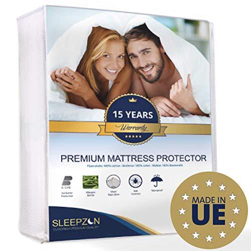 SLEEPZEN Protège Matelas Enfant Imperméable 90x200 cm - Molleton 100% Coton, Alèse de lit...