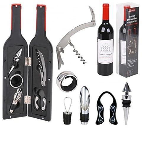 accessoire de sommelier en forme de bouteille de vin Bouchon Opener Tire-bouchon Cutter Boîte cadeau