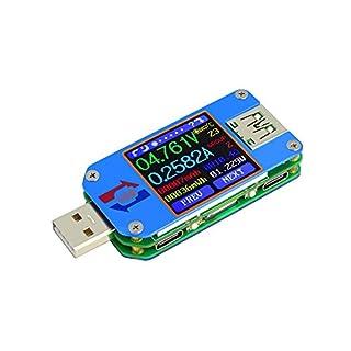 KKmoon Spannung und Strom Widerstand Tester【USB 2.0 Typ-C Farbe LCD Display Kommunikation Version】