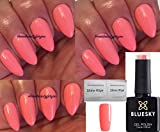 BLUESKY Prüf Rosa Coral Pastell Blossom Nagellack-Gel UV-LED-Soak Off 10 ml plus 2 homebeautyforyou Shine Tücher