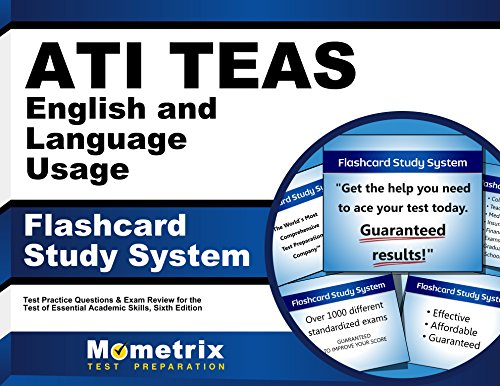 ATI TEAS English and Language Usage Flashcard Study System: TEAS 6 Test Practice Questions & Exam Review for the Test of Essential Academic Skills, Sixth Edition (English Edition) (Medical Language Flashcards)