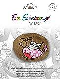 The Art of Stone - Schutzengel für Dich -Serie 1 / Motiv 22- Glücksstein mit Engel - Bemalter Naturstein + Unikat- als Dekostein, Glücksbringer oder Geschenk
