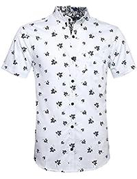 Camisa Hawaiana Para Hombre Camisas Corta Fibujos Hombre Ropa Estampada de  Verano con Diseño de Hojas c44d0826f5e6a