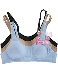 d83414ef44653 MANJIAMEI Puberty Growing Young Girls Soft Touch Cotton Training Bra with  Two Hooks