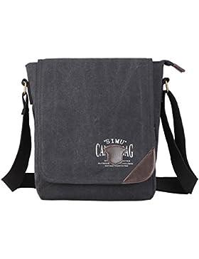 Super Modern Herren Canvas Schultertasche Messenger Bag Umhängetasche Schultasche Arbeiten Tasche Umhängetasche...