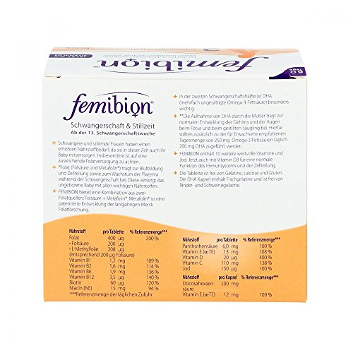 Femibion 2 Schwangerschaft und Stillzeit Tabletten und Kapseln, 60 Tage Packung - 4