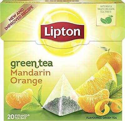 Lipton Grüner Tee Mandarine Orange Pyramidenbeutel 20 Stück, 3er Pack von Lipton - Gewürze Shop