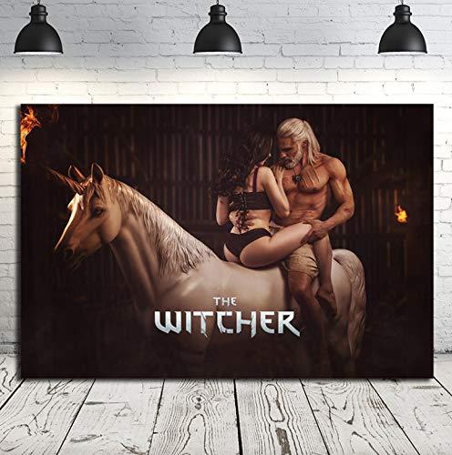 REDWPQ Sexy Yennefer de Vengerberg The Witcher 3 Wild Hunt Carteles de Lienzo Impresiones Arte de la Pared Pintura Imagen Decorativa Decoración del hogar 40X60 Cm Sin Marco
